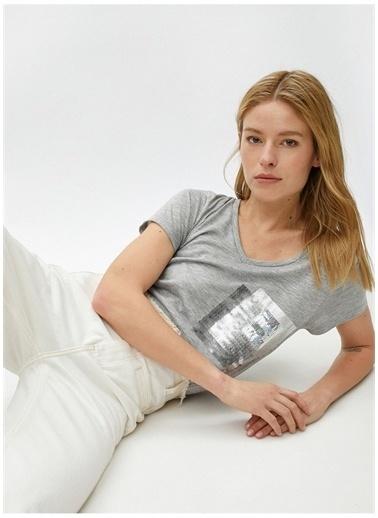 Koton Koton T-Shirt Gri